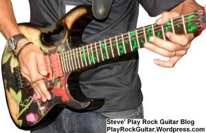 Guitarist Playing Rock Lead Guitar