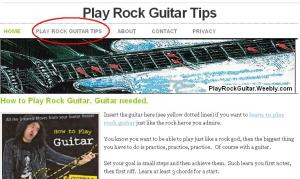 Play Rock Guitar at Weebly