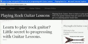Playing Rock Guitar Lessons